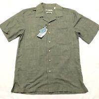 BATIK BAY HAWAIIAN ALOHA Washable 100% SILK Shirt Small S Loop Collar New