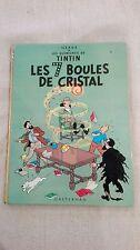 Tintin les sept boules de cristal 4éme plat B38 bis 1969, état moyen.