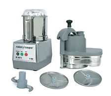 Robot Coupe R401 Combination Continuous Feed Food Processor w/ 4.5 Qt. Gray Bowl