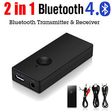 Wireless Bluetooth 3.0 Audio Music Transmitter Stereo Adapter w/3.5mm Jack Cable