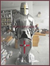 Medieval Knight Suit of Armor 17th Century Full Body Armour Suit & Shield Decor
