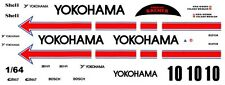 #10 YOKOHAMA PORSCHE 956/962 1/64th HO Scale Slot Car Waterslide Decals