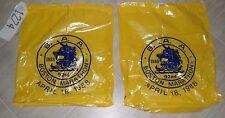 Two - 1988 Boston Marathon Runners Claim Bags Very Good Condition w/Drawstring