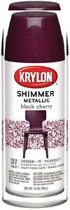 Krylon Shimmer Metallic Spray Paint, 11.5-Oz, Black Cherry
