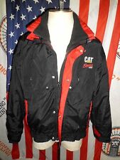 Mens VTG 90s NASCAR Ward Burton Caterpillar Racing Nylon Winter Jacket Set L CAT