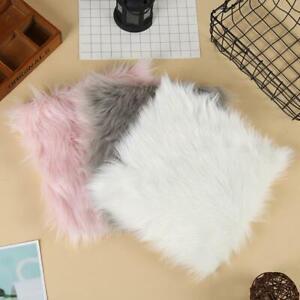 Balcony Faux Fur Sheepskin Rug Fluffy Mat Pad Room Sofa Carpet HO