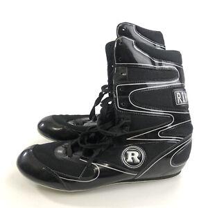 Ringside Undefeated Black Wrestling Boxing Shoes Size 9