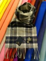 100% Pure Cashmere Scarf | The House of Balmoral | Silver Bannockbane | Tartan