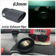 Universal 63MM Stainless Steel Car Exhaust Pipes Tip Tail Muffler Cover Durable