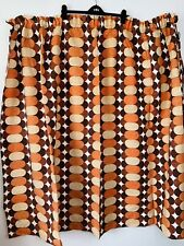 More details for vintage retro abstract curtains 66.5