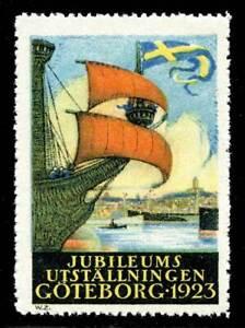 Sweden Poster Stamp - 1923 Göteborg - Jubilee Exhibition - Ships