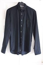 MARC O'POLO Herren Hemd schwarz Gr. M 39/40 Regular Fit