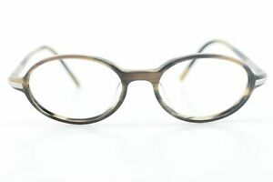 Luxury 1990s Gucci Brown Oval Glasses Frames made in Japan NEW 48-17