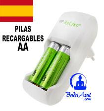 PILAS RECARGABLES CARGADOR DE PILAS AA AAA BATERIAS + 2 PILAS AA GP ReCyko