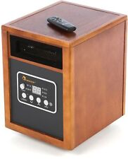 Decorative Electric Cabinet Space Heater w/Remote &Timer, 1500W, Portable