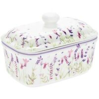 Leonardo Collection Purple Lavender Fine China Butter Dish lp94062
