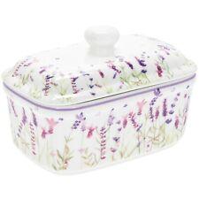 Leonardo Collection Purple Lavender Fine China Butter Dish lp94062