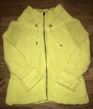 American Eagle Outfitters Womens Yellow Knit Sweater Full Zip Size XS