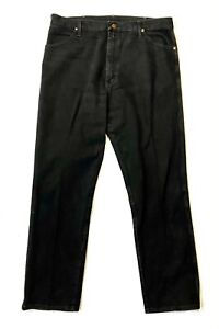 VTG Wrangler Men's BLACK Jeans 38 x 32 - Made USA Cowboy Cut Original Fit 13MWZ