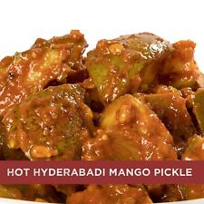Home Made Hot Mango Andhra Pickles with Garlic and Ginger, 500 gm  Free shipping