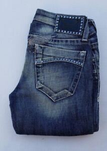 New Women's ROBIN'S JEAN sz 25 DIA GARBOT Studded Jeans