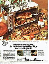 PUBLICITE ADVERTISING 096  1971  la rotissoire Moulinex  auto-nettoyante