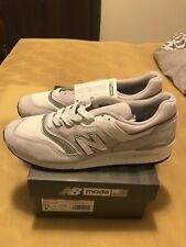 "New Balance 997 ""Made In USA"" Grey/White ""Interchangeable Logo"" MEN SZ 13"