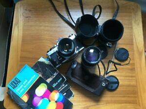 Olympus OM1 35mm camera bundle - very good condition