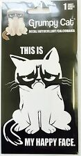 Grumpy Cat Car Window Decal Sticker This Is My Happy Face #2