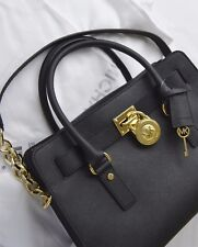 39afa467f6280 MICHAEL KORS Tasche Hamilton Black Schwarz Gold Damentasche Saffiano Leder  NEU !