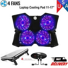 Laptop Cooling Pad 10-17inch Gaming Laptop USB Fan Cooler w/ 4 Fans Dual USB 3.0