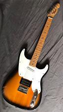More details for rare fender squier 51 telecaster stratocaster hybrid electric guitar new strings