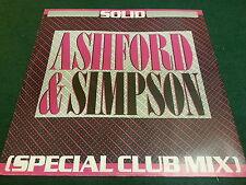 "80's Vinyl 12"" Single Ashford & Simpson – Solid (Special Club Mix) VG+ CHKpics"