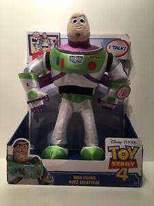 Disney Pixar Toy Story 4 High Flying Buzz Lightyear Talking Plush. New