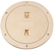 "New Screw-out Deck Plate beckson Marine Dp64-n 6"" ID 8-1/8"" OD 6-1/2"" Beige Cent"