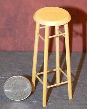 Dollhouse Miniature Oak Wooden Tall Bar Stool 1:12 inch scale D58 Dollys Gallery