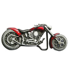 520283c88bf8 Chopper Motorcycle Red Enamel Metal Belt Buckle