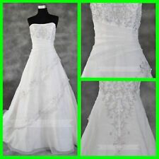 Embroidery Organza A-Line Wedding Dresses