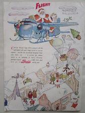 12/1946 PUB BRISTOL AEROPLANE BRISTOL 170 PERE NOEL SANTA KLAUS CHRISTMAS AD