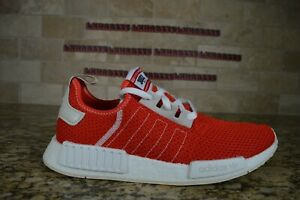 NEW Adidas NMD R1 Boost Running Shoes Active Red Ecru Tint Mens BD7897 Size 10