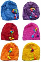 Bella Baby Knitted Bonnets Baby Girl Hats in Set of 6 and Dz Pk U16250-6412-6