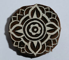Round Shaped 5cm Indian Hand Carved Wooden Printing Block Stamp (RD17)