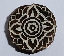 Forma Redonda 5cm Indio Tallado A Mano Madera Impresión Bloque Sello (RD17)