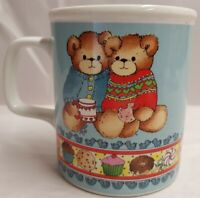 Vintage Enesco Lucy Rigg Lucy and Me Teddy Bears Ceramic Mug c1983