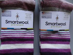 NEW 2 Pairs SmartWool Jovian Stripe Merino Wool Crew Socks Women's Medium
