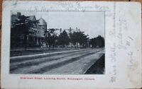 Waukegan, IL 1909 Postcard: Sheridan Road, Looking North - Illinois Ill