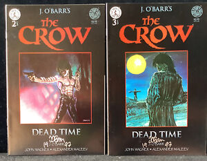 The Crow Dead Time #2 & #3 Kitchen Sink 1996) Comic Books Signed By J. O'barrs