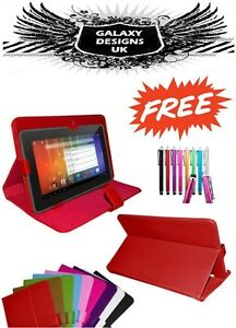 Universal Case for 7 Inch Devices Flip Folio Folding Cover Leather Stand Case
