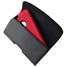 For iPhone Extra Large Leather Case Pouch Holder Belt Clip With Loop Holster