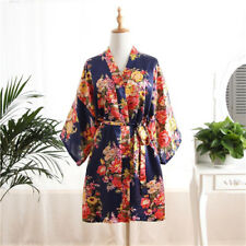2018 Floral satin bridesmaid robes gowns bride bath robe wedding kimono robes